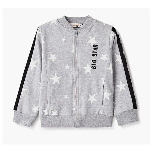 Купить Олимпийка Roxy Foxy размер 128, серый меланж, Толстовки