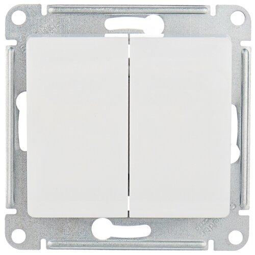 Переключатель 2-х полюсный Schneider Electric GSL000165 GLOSSA, 10 А, белый переключатель schneider electric 22мм 2 позиции черный xb5ad21