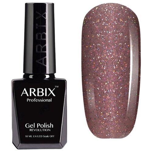Гель-лак Arbix Classic (glitter), 10 мл, оттенок 015 Розовое вино
