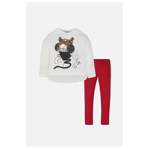 Купить Комплект одежды Mayoral размер 128, белый/красный, Комплекты и форма