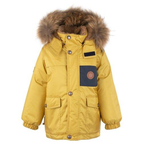 Купить Куртка KERRY Tom K20438 размер 128, 112 желтый, Куртки и пуховики