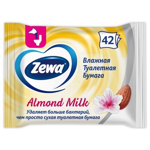 Влажная туалетная бумага Zewa Миндальное молочко 42 л. туалетная бумага zewa миндальное молочко 42 л