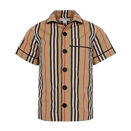цена Рубашка Burberry размер 104, бежевый онлайн в 2017 году
