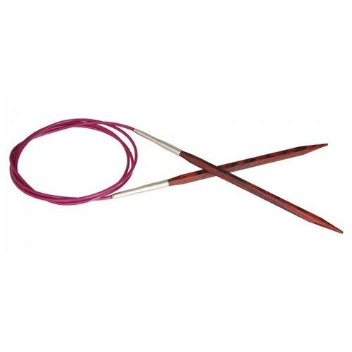 Купить Спицы Knit Pro круговые Cubics 25360, диаметр 8 мм, длина 120 см, коричневый