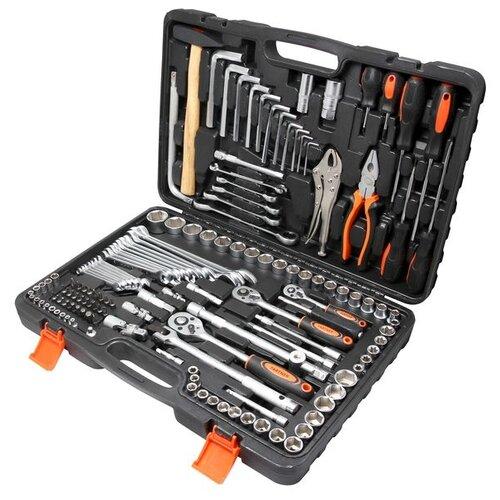 Фото - Набор инструментов Partner (142 предм.) PA-40142 черный/оранжевый набор инструментов sparta 6 предм 13540 черный оранжевый