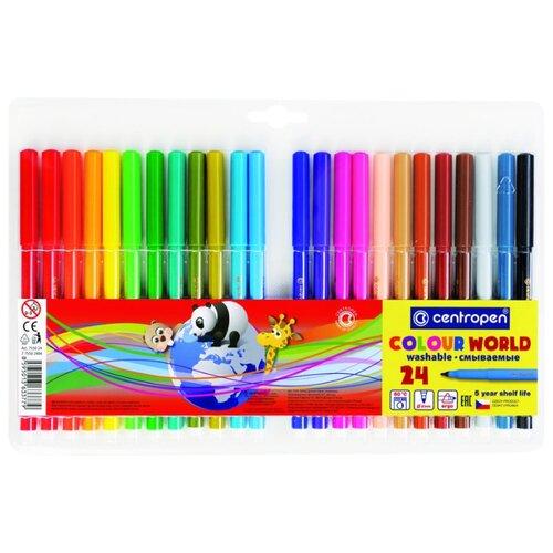 Купить Centropen Набор фломастеров Colour World, 24 шт. (7550/24 TP), Фломастеры и маркеры