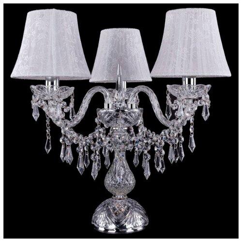 Настольная лампа Bohemia Ivele Crystal 1403L/3/141-39 NI SH41-160, 120 Вт настольная лампа bohemia ivele crystal 1406l 3 141 39 g sh13a 160 120 вт