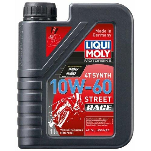 Синтетическое моторное масло LIQUI MOLY Motorbike 4T Synth 10W-60 Street Race 1 л моторное масло liqui moly motorbike 4t synth offroad race 10w 60 1 л