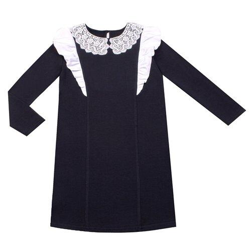Платье Апрель размер 122-62, темно-синий/белый платье апрель размер 122 62 драгоценные камни на черном