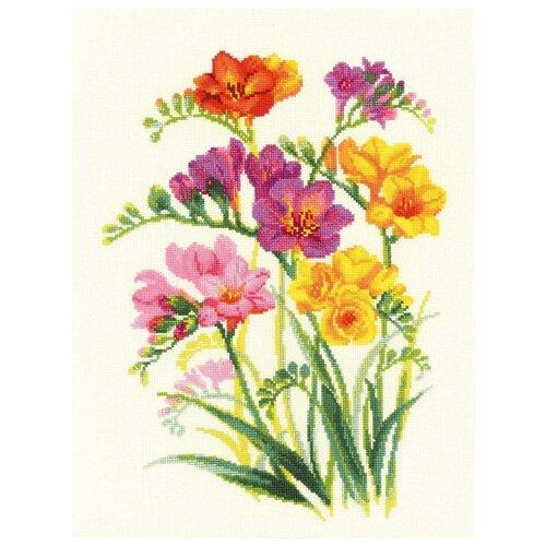 Риолис Набор для вышивания 1821 Ароматные фрезии риолис набор для вышивания 1775 розовые маки