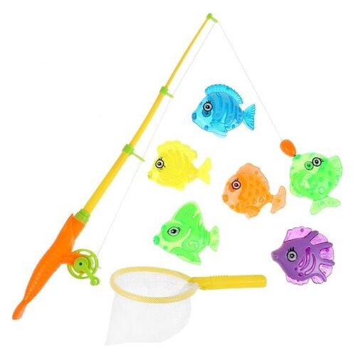 Рыбалка Играем вместе Три кота 1703V180-R желтый/голубой/зеленый/фиолетовый/оранжевый игрушки для ванны играем вместе игра рыбалка три кота k095 h19006 r