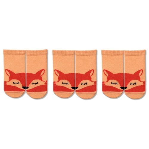Купить Носки НАШЕ комплект 3 пары размер 22 (20-22), персик
