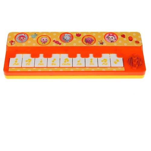 Купить Умка пианино Малышарики B1517258-R16 желтый/оранжевый, Детские музыкальные инструменты