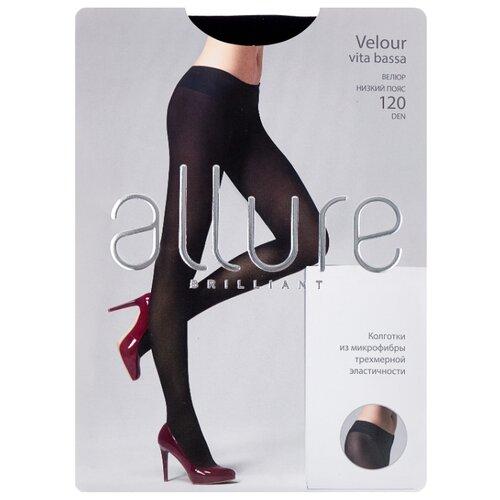 Колготки ALLURE Brilliant Velour Vita Bassa 120 den, размер 3, nero (черный) колготки glamour velour 3 120 den черный
