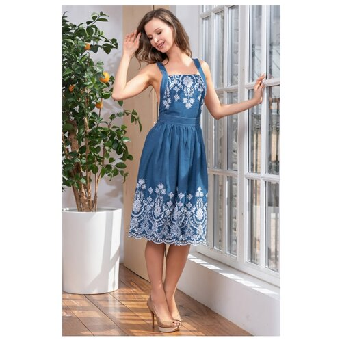 Пляжное платье Mia-Mella Montana 6620 размер XL синий платье oodji collection цвет синий 24007026 37809 7500n размер xl 50
