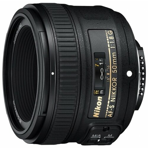 Объектив Nikon 50mm f/1.8G AF-S Nikkor черный