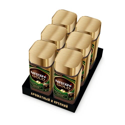 Кофе Nescafe Gold Aroma растворимый с добавлением жареного молотого кофе, 6 уп. по 85 г