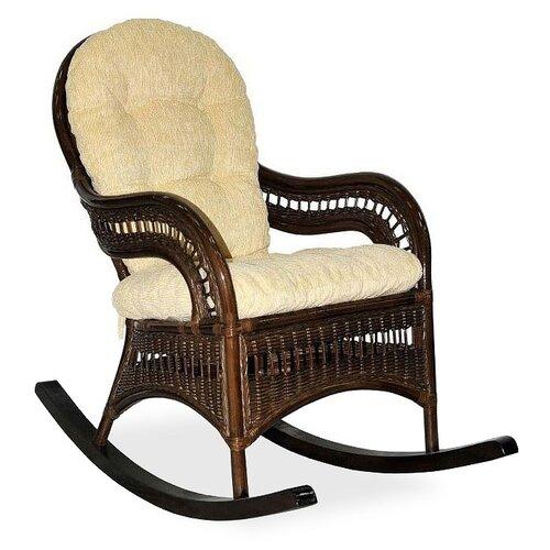 Кресло-качалка ЭкоДизайн Kiwi золотистый/темно-коричневый