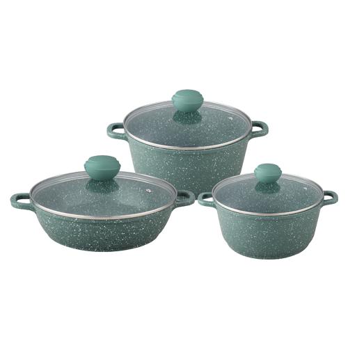 Набор посуды Bekker Malachite BK-4613 6 пр. зеленый
