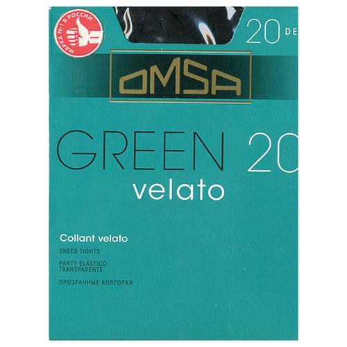 Колготки Omsa Green 20 den, размер 4-L, nero (черный) колготки omsa fantastico 20 den размер 4 l nero черный