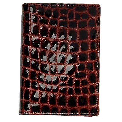 """Обложка для автодокументов Dr.Koffer """"Крокодиловая кожа"""" X510138-30-03, черно-оранжевый"""