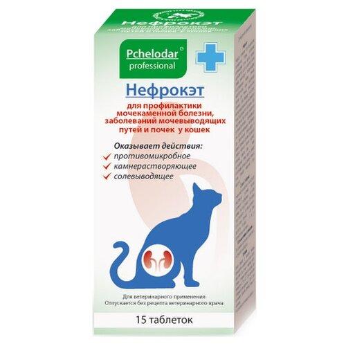 Пчелодар Нефрокэт таблетки для кошек комплексная профилактика МКБ (1 таб. на 10кг) 15таб.