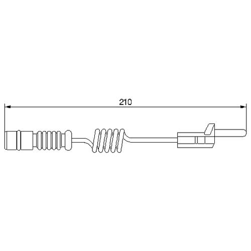 Датчик износа тормозных колодок задний Bosch 1987474969 для Mercedes-Benz, Volkswagen