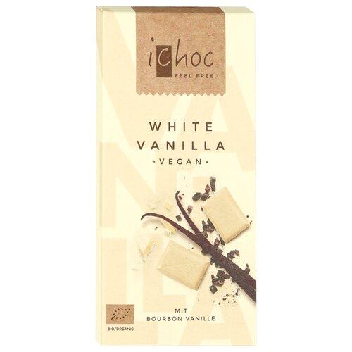 Фото - Шоколад iChoc White Vanilla белый с бурбонской ванилью, 80 г советские традиции сырок творожный глазированный с ванилью 26% 45 г