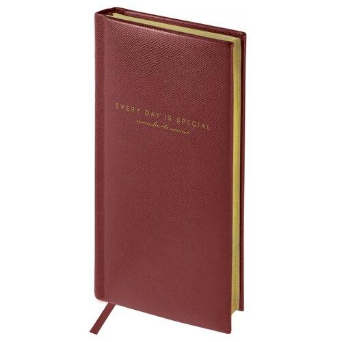 Купить Еженедельник OfficeSpace Dallas полудатированный, искусственная кожа, А6, 64 листов, коричневый, Ежедневники, записные книжки