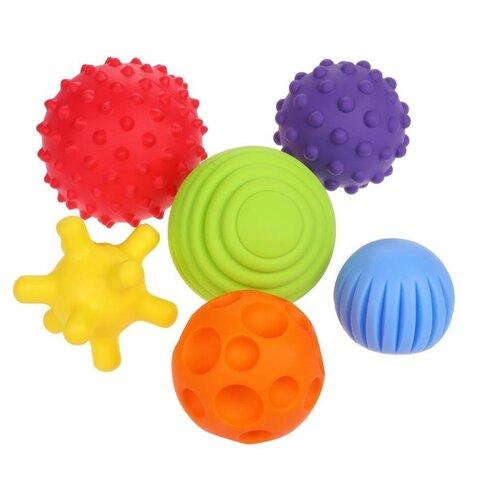 Купить Развивающая игрушка Fancy Baby Тактилики TIH1S желтый/голубой/красный/оранжевый/фиолетовый, Развитие мелкой моторики