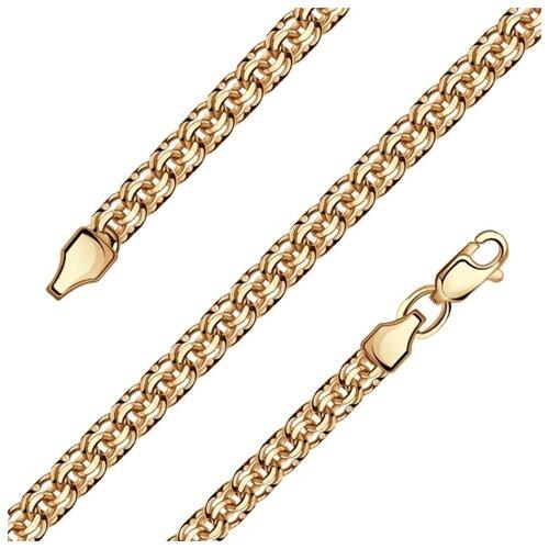 Адамант Цепь из золота плетения Бисмарк Зл585К-5070060, 45 см, 3.74 г