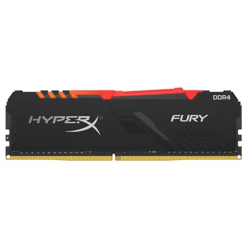 Оперативная память HyperX Fury RGB DDR4 2666 (PC 21300) DIMM 288 pin, 8 ГБ 1 шт. 1.35 В, CL 15, HX430C15FB3A/8 оперативная память kingston hyperx fury rgb hx426c16fb3a 16 dimm 16gb ddr4 2666mhz dimm 288 pin pc 21300 cl16