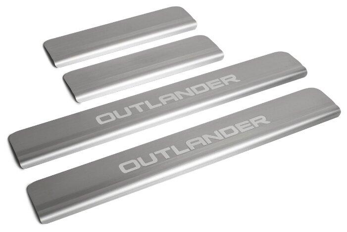 Накладки на внешние пороги для Mitsubishi Outlander III рестайлинг (2015-н.в.) RIVAL NP.4006.3 (комплект 4 шт.)