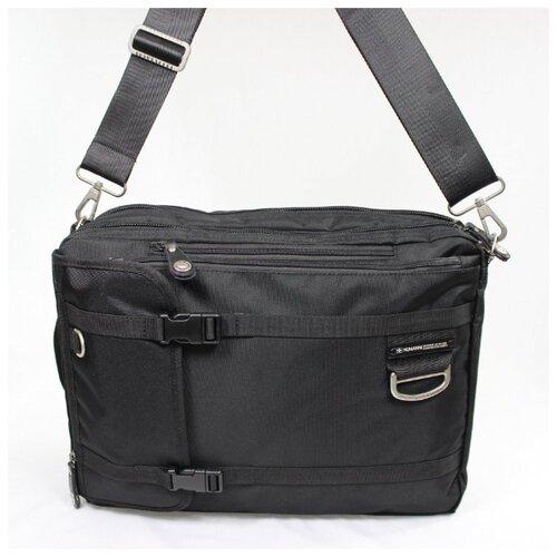 Сумка-рюкзак трансформер из текстиля Numanni 355 чёрная Сумка-рюкзак N355 чер.