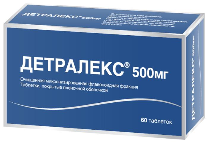 Детралекс таб. п/о плен. 500 мг №60