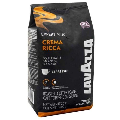цена Кофе в зернах Lavazza Crema Ricca, арабика/робуста, 1000 г онлайн в 2017 году