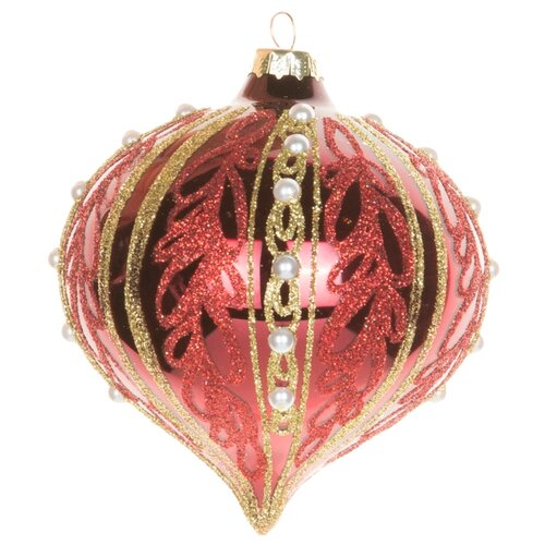 Набор елочных игрушек KARLSBACH 06873, красный/золотой