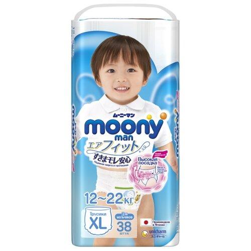 Купить Moony трусики Man для мальчиков XL (12-22 кг) 38 шт., Подгузники