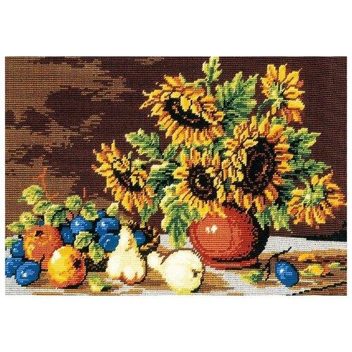 Schaefer Набор для вышивания гобелена Подсолнух в вазе 35 x 50 см (411/54) schaefer набор для вышивания 9 x 12 см 460 12