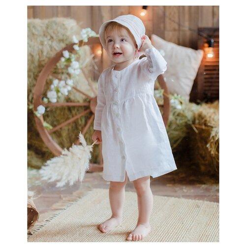 Купить Платье Лапушка размер 80, белый, Платья и юбки