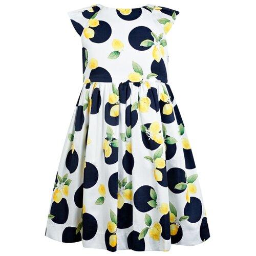 Купить Платье Mayoral размер 128, белый/синий/желтый, Платья и сарафаны