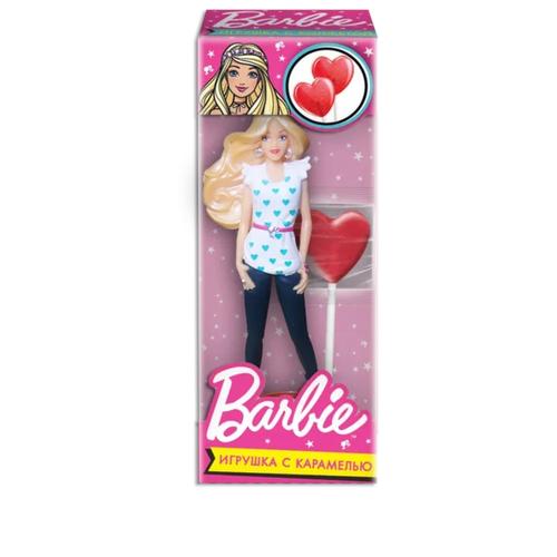 Карамель в виде сердца Сладкая сказка с куклой Barbie 20 г сладкая сказка рождественская дверь красная шоколадные конфеты 400 г