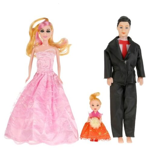 Набор кукол Shantou Gepai Семья, 3 шт, B1708674 набор для плетения shantou gepai 21011 от 8 лет 600 шт