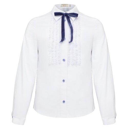 Купить Блузка Смена размер 152/72, белый, Рубашки и блузы