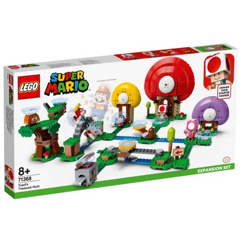 Купить Конструктор LEGO Super Mario 71368 Дополнительный набор Погоня за сокровищами Тоада, Конструкторы