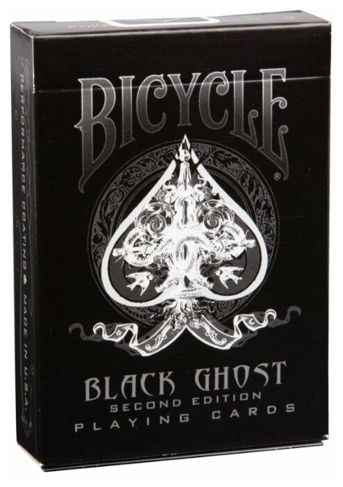 Карты для покера Bicycle Black Ghost