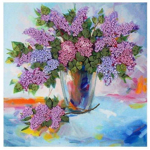 PANNA Набор для вышивания Живая картина Сиреневая симфония 20, 5 х 20, 5 см (JK-2014)