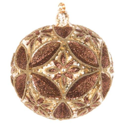 Набор шаров KARLSBACH с золотым рисунком 06825, коричневый