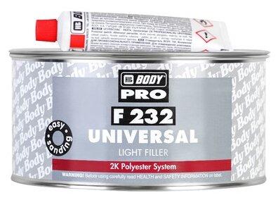 Комплект (шпатлевка, отвердитель) HB BODY PRO F232 Universal