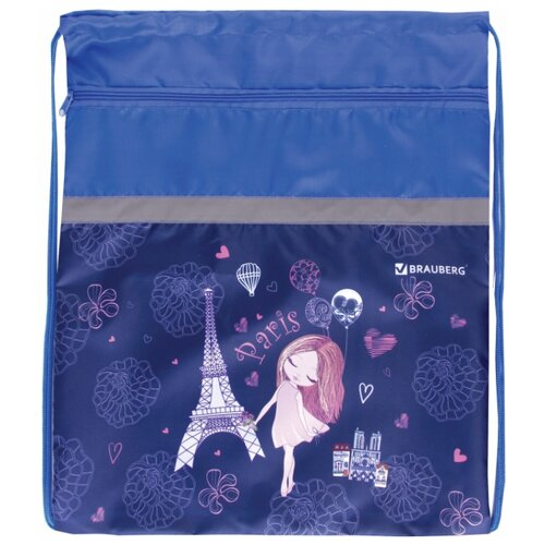 Фото - BRAUBERG Сумка для обуви Paris (229178) синий brauberg сумка для обуви racing car 229171 черный